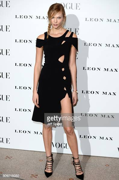 Karlie Kloss attends at Vogue 100 A Century Of Style at the National Portrait Gallery on February 9 2016 in London England