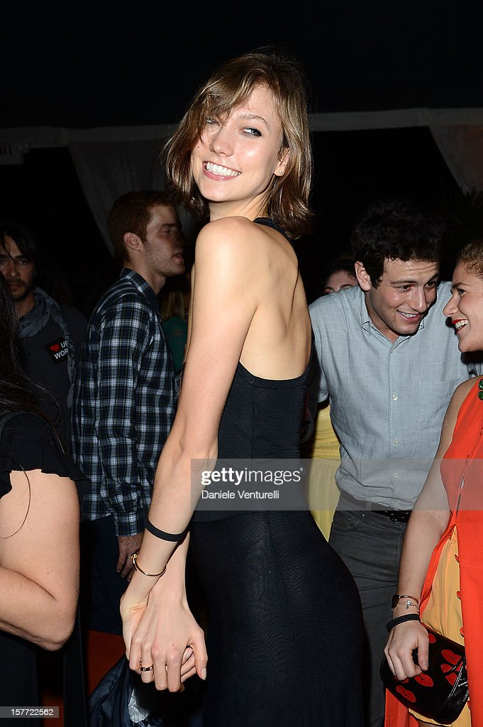 Karlie Kloss attends Chanel beachside BBQ celebrating Art.sy at Soho Beach House on December 5, 2012 in Miami Beach, Florida.