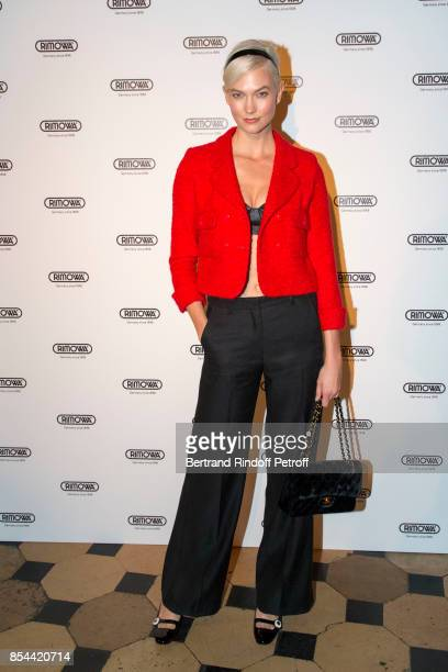 Karlie Kloss attends dinner hosted by Rimowa Alexandre Arnault to celebrate the 80th Anniversary of Rimowa's iconic aluminium suitcase at Restaurant...