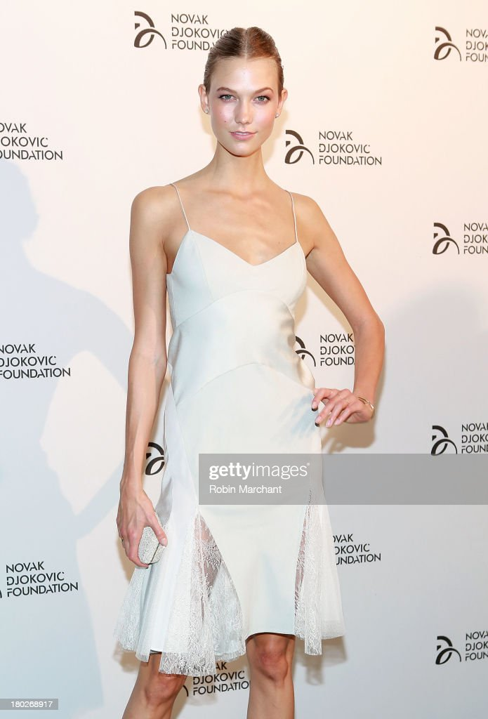 <a gi-track='captionPersonalityLinkClicked' href=/galleries/search?phrase=Karlie+Kloss&family=editorial&specificpeople=5555876 ng-click='$event.stopPropagation()'>Karlie Kloss</a> attends the 2013 Novak Djokovic Dinner at Capitale on September 10, 2013 in New York City.