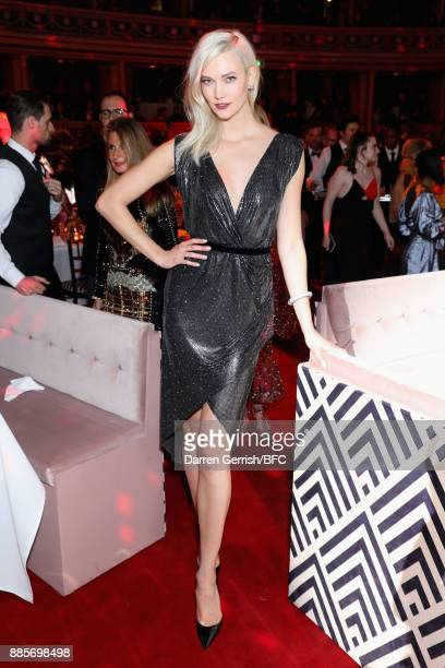 Karlie Kloss attends the after party for The Fashion Awards 2017 in partnership with Swarovski at Royal Albert Hall on December 4 2017 in London...