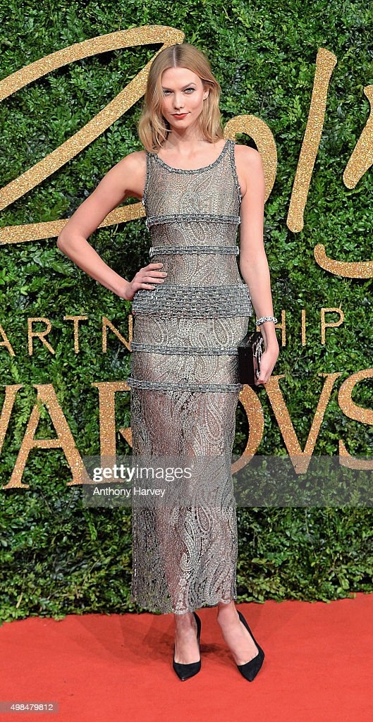 Karlie Kloss attends the British Fashion Awards 2015 at London Coliseum on November 23 2015 in London England