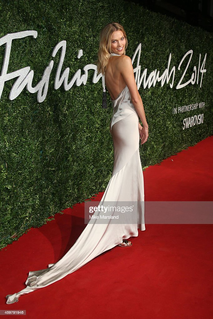 Karlie Kloss attends the British Fashion Awards at London Coliseum on December 1, 2014 in London, England.