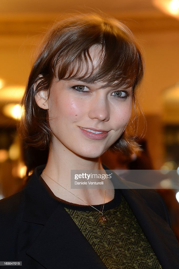 Karlie Kloss attends the Bulgari And Purple Magazine Party at Cafe de Flore on March 3, 2013 in Paris, France.