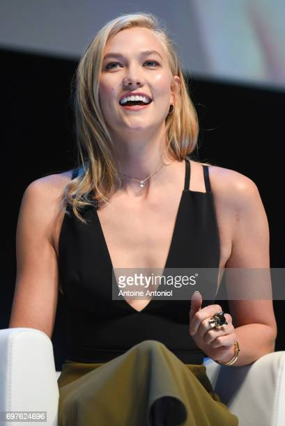 Karlie Kloss attends the Cannes Lions Festival 2017 on June 19 2017 in Cannes France