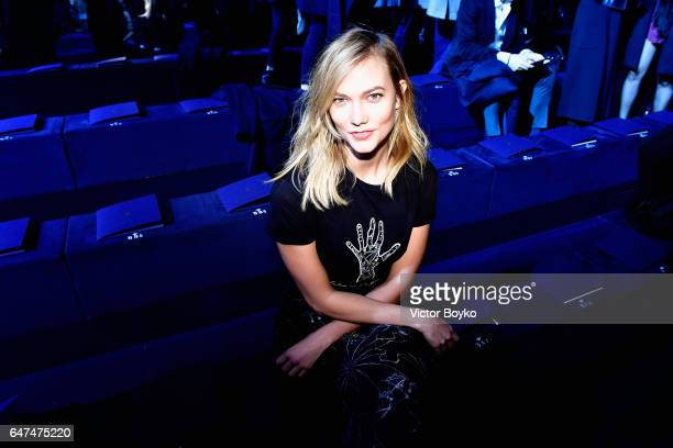 Karlie Kloss attends the Christian Dior show as part of the Paris Fashion Week Womenswear Fall/Winter 2017/2018 on March 3 2017 in Paris France