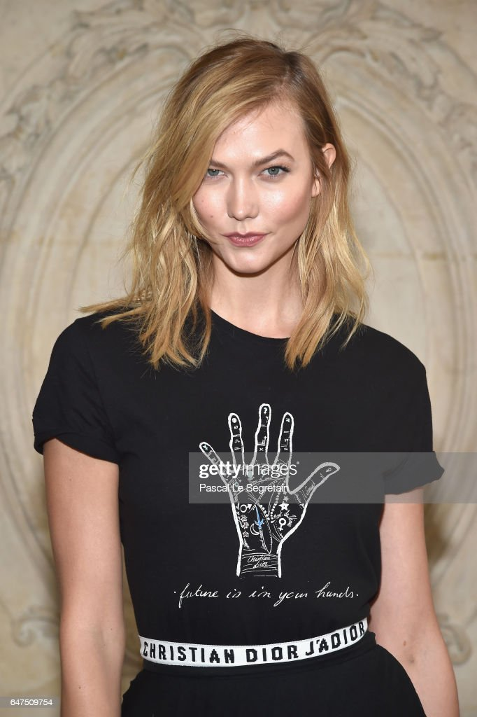 Karlie Kloss attends the Christian Dior show as part of the Paris Fashion Week Womenswear Fall/Winter 2017/2018 at Musee Rodin on March 3, 2017 in Paris, France.