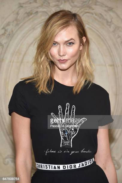 Karlie Kloss attends the Christian Dior show as part of the Paris Fashion Week Womenswear Fall/Winter 2017/2018 at Musee Rodin on March 3 2017 in...