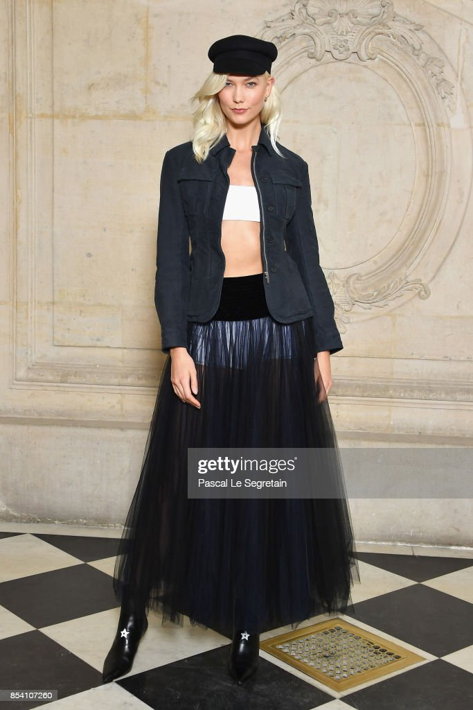 Karlie Kloss attends the Christian Dior show as part of the Paris Fashion Week Womenswear Spring/Summer 2018 on September 26, 2017 in Paris, France.