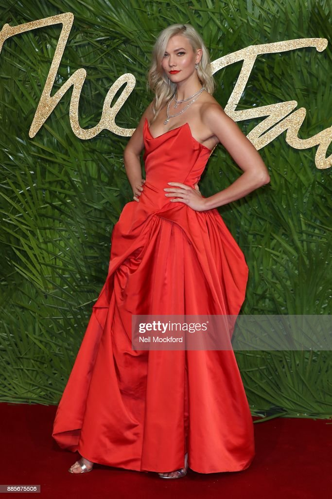 Karlie Kloss attends The Fashion Awards 2017 in partnership with Swarovski at Royal Albert Hall on December 4, 2017 in London, England.