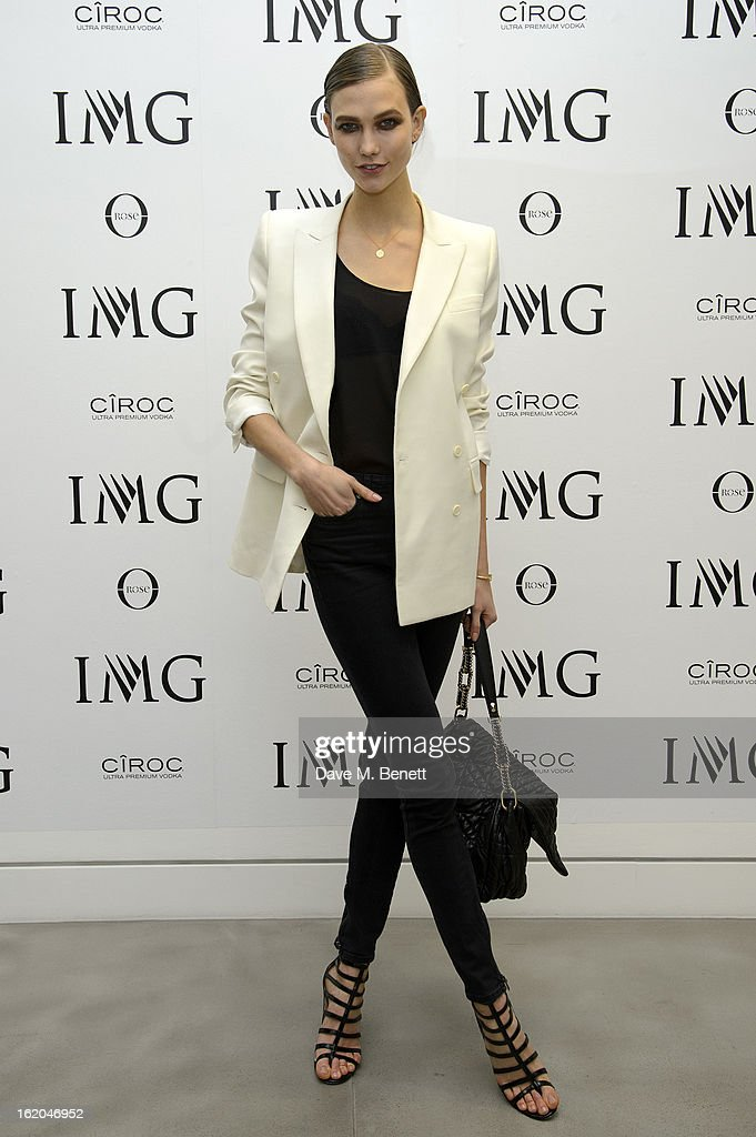 Karlie Kloss attends the IMG Models 'Be Conscious It's Happening' party at The Network Building on February 18, 2013 in London, England.