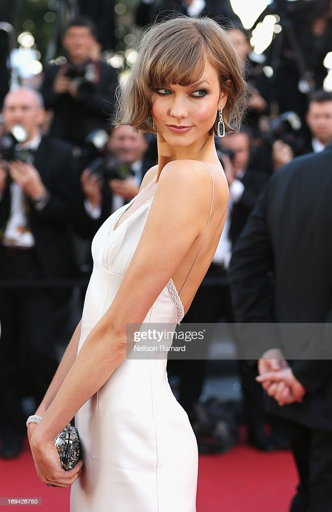 Karlie Kloss attends 'The Immigrant' Premiere during the 66th Annual Cannes Film Festival at Grand Theatre Lumiere on May 24, 2013 in Cannes, France.