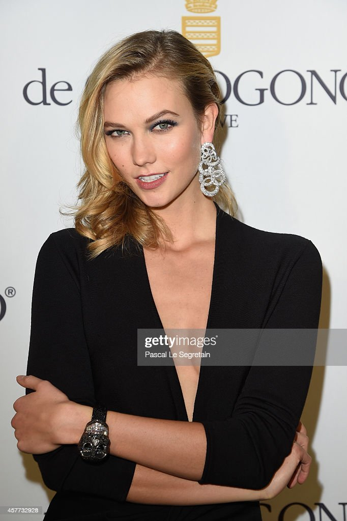 Karlie Kloss attends the launch of the De Grisogono 'Crazy Skull' watch on October 23 2014 in Paris France