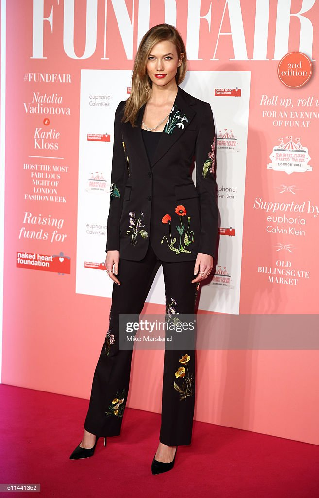 Karlie Kloss attends 'The London Fabulous Fund Fair' at Old Billingsgate Market on February 20 2016 in London England