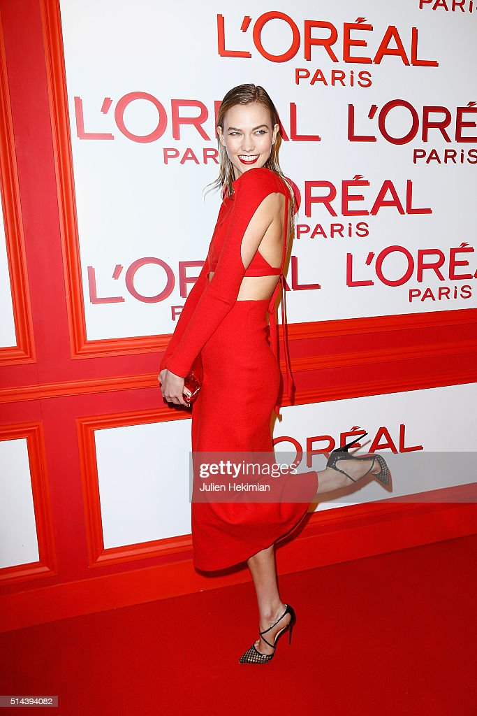 Karlie Kloss attends the L'Oreal Red Obsession Party during Paris Fashion Week Womenswear Fall/Winter 2016/2017 on March 8 2016 in Paris France