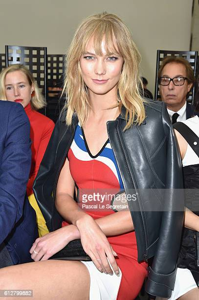 Karlie Kloss attends the Louis Vuitton show as part of the Paris Fashion Week Womenswear Spring/Summer 2017 on October 5 2016 in Paris France
