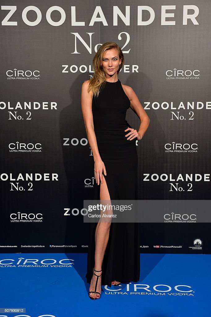 Karlie Kloss attends the Madrid Fan Screening of the Paramount Pictures film 'Zoolander No 2' at the Capitol Theater on February 1 2016 in Madrid...