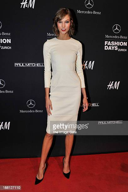 Karlie Kloss attends the MercedesBenz Fashion Days Zurich 2013 on November 15 2013 in Zurich Switzerland