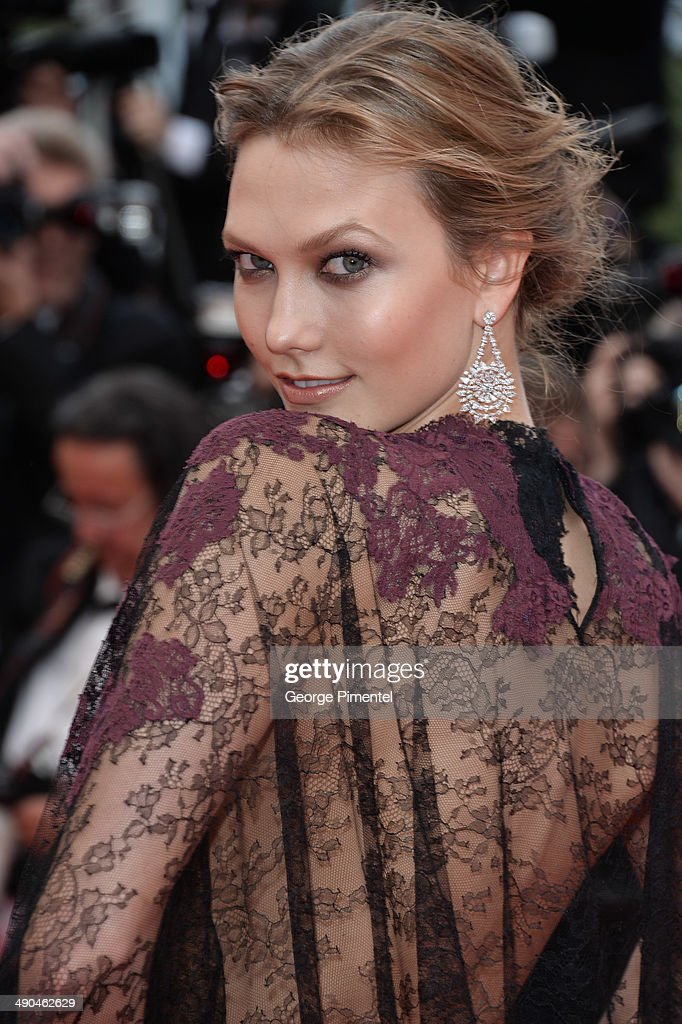 <a gi-track='captionPersonalityLinkClicked' href=/galleries/search?phrase=Karlie+Kloss&family=editorial&specificpeople=5555876 ng-click='$event.stopPropagation()'>Karlie Kloss</a> attends the opening ceremony and 'Grace of Monaco' premiere at the 67th Annual Cannes Film Festival on May 14, 2014 in Cannes, France.