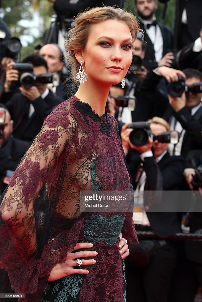 <a gi-track='captionPersonalityLinkClicked' href=/galleries/search?phrase=Karlie+Kloss&family=editorial&specificpeople=5555876 ng-click='$event.stopPropagation()'>Karlie Kloss</a> attends the Opening ceremony and Premiere of 'Grace of Monaco' at the 67th Annual Cannes Film Festival on May 14, 2014 in Cannes, France.