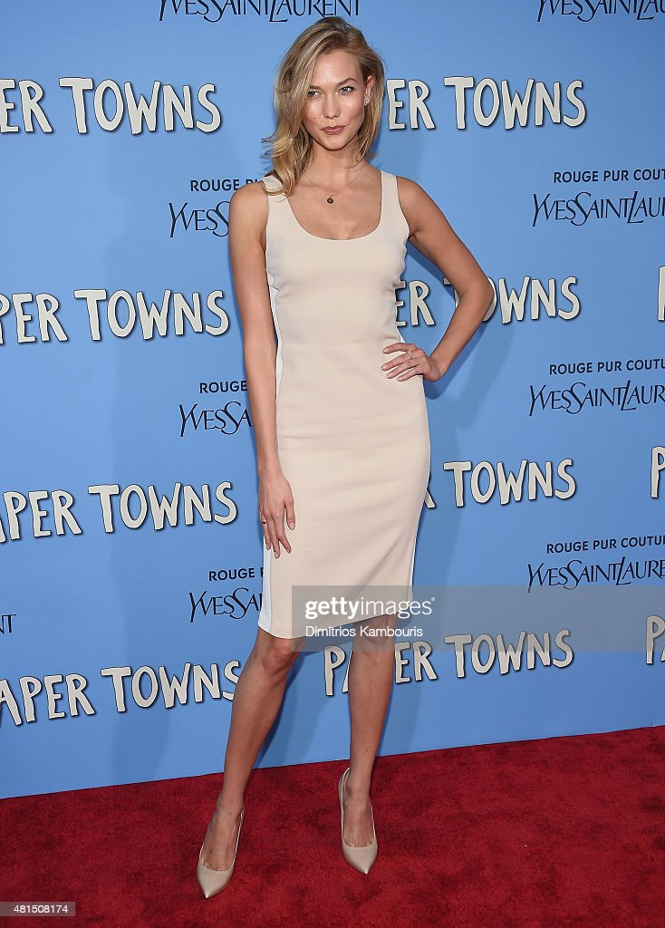 Karlie Kloss attends the 'Paper Towns' New York Premiere at AMC Loews Lincoln Square on July 21 2015 in New York City