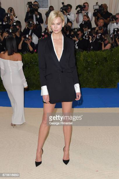Karlie Kloss attends the 'Rei Kawakubo/Comme des Garcons Art Of The InBetween' Costume Institute Gala at Metropolitan Museum of Art on May 1 2017 in...