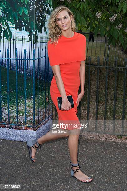 Karlie Kloss attends the Serpentine Gallery Summer Party at The Serpentine Gallery on July 2 2015 in London England