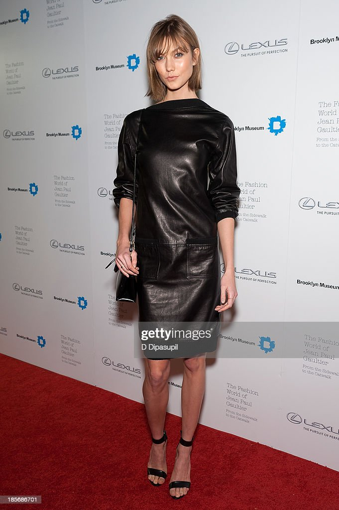 <a gi-track='captionPersonalityLinkClicked' href=/galleries/search?phrase=Karlie+Kloss&family=editorial&specificpeople=5555876 ng-click='$event.stopPropagation()'>Karlie Kloss</a> attends the VIP reception and viewing for The Fashion World of Jean Paul Gaultier: From the Sidewalk to the Catwalk at the Brooklyn Museum on October 23, 2013 in the Brooklyn borough of New York City.