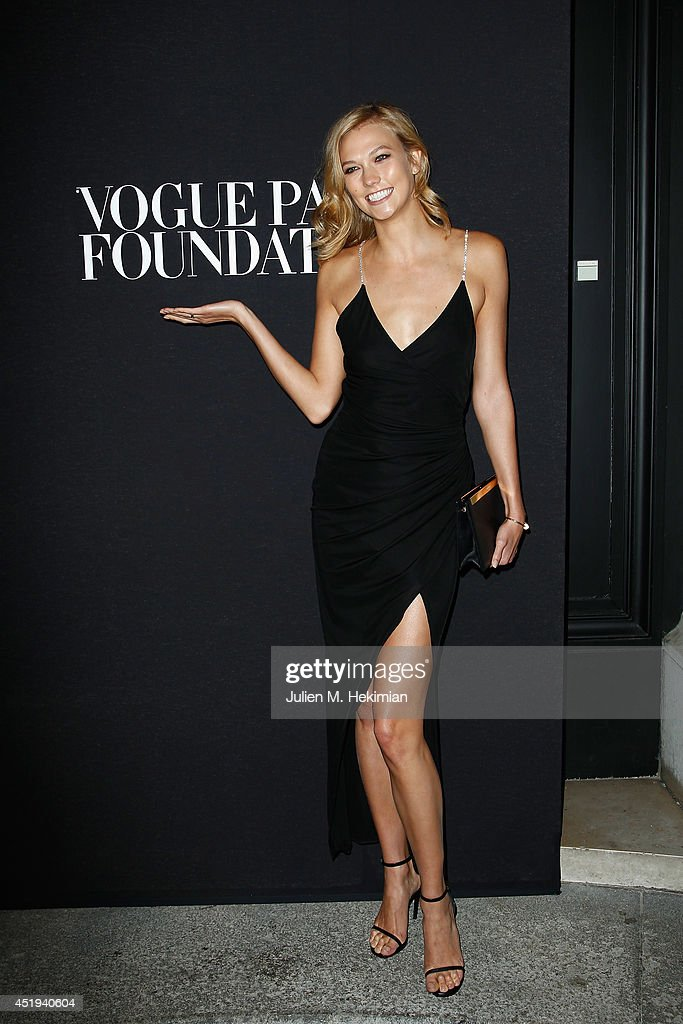 Karlie Kloss attends the Vogue Foundation Gala as part of Paris Fashion Week at Palais Galliera on July 9, 2014 in Paris, France.