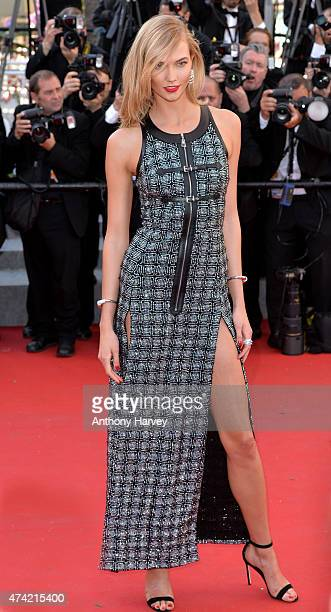 Karlie Kloss attends the 'Youth' premiere during the 68th annual Cannes Film Festival on May 20 2015 in Cannes France