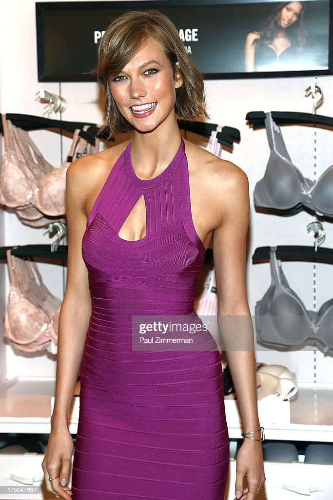 Karlie Kloss attends Victoria's Secret Angels celebrate Body by Victoria Collection launch at Victoria's Secret SoHo on July 30, 2013 in New York City.