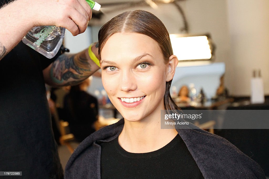 <a gi-track='captionPersonalityLinkClicked' href=/galleries/search?phrase=Karlie+Kloss&family=editorial&specificpeople=5555876 ng-click='$event.stopPropagation()'>Karlie Kloss</a> backstage at the Cushnie Et Ochs fashion show during MADE Fashion Week Spring 2014 at Milk Studios on September 6, 2013 in New York City.