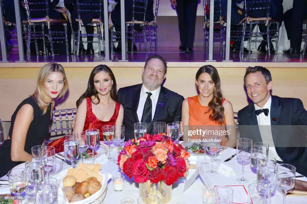 Karlie Kloss, Georgina Chapman, Harvey Weinstein, Alexi Ashe and Seth Meyers attend the 2015 Time 100 Gala at Jazz at Lincoln Center on April 21, 2015 in New York City.
