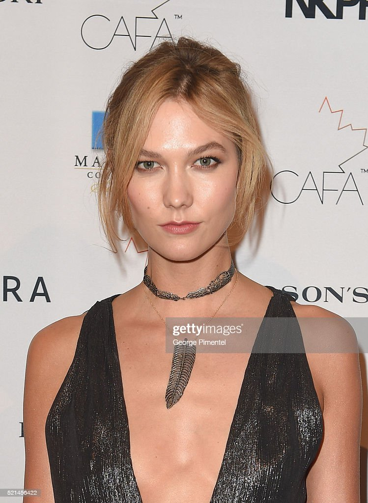 Karlie Kloss in Joe Fresh attends the 3rd Annual Canadian Arts And Fashion Awards held at the Fairmont Royal York Hotel on April 2016 in Toronto...