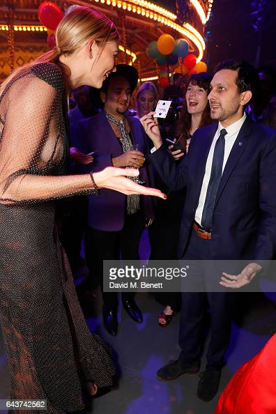 Karlie Kloss is entertained by Dynamo at LondonÕs Fabulous Fund Fair hosted by Natalia Vodianova and Karlie Kloss in support of The Naked Heart...