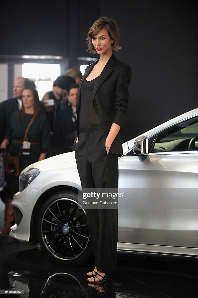 Karlie Kloss is seen Around Lincoln Center - Day 6 - Fall 2013 Mercedes-Benz Fashion Week at Lincoln Center for the Performing Arts on February 12, 2013 in New York City.