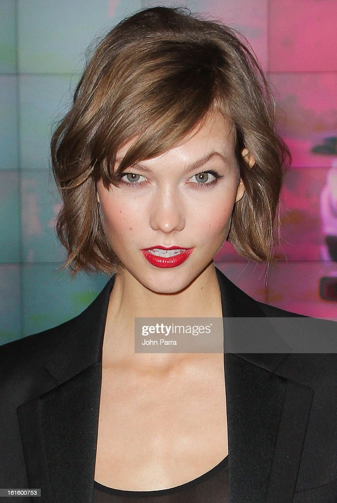 Karlie Kloss is seen during Fall 2013 Mercedes-Benz Fashion Week at Lincoln Center for the Performing Arts on February 12, 2013 in New York City.