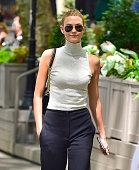 Karlie Kloss is seen in Bryant Park on June 3 2015 in New York City