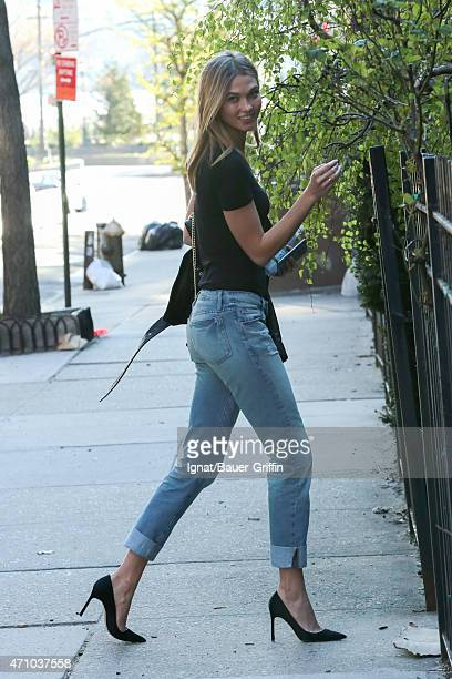 Karlie Kloss is seen in New York City on April 24 2015 in New York City