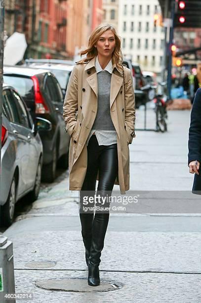 Karlie Kloss is seen in New York City on December 11 2014 in New York City