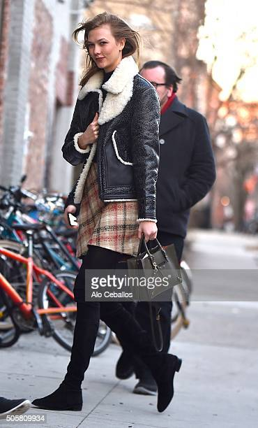 Karlie Kloss is seen in Soho on January 20 2016 in New York City