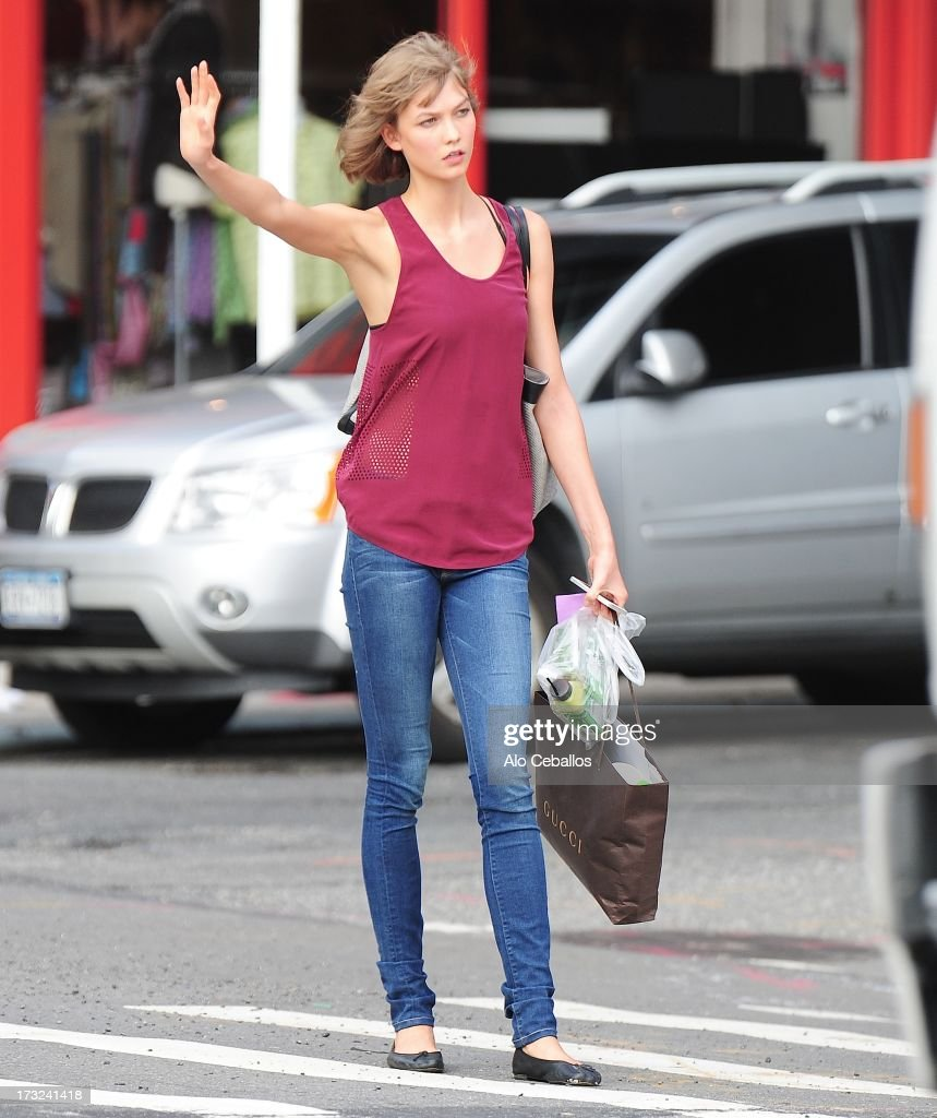 Karlie Kloss is seen in the Meat Packing District on July 10, 2013 in New York City.