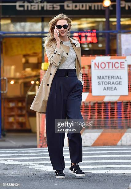 Karlie Kloss is seen in the West Village on March 18 2016 in New York City