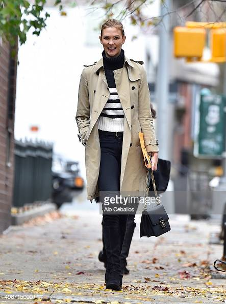 Karlie Kloss is seen in the West Village on November 11 2015 in New York City