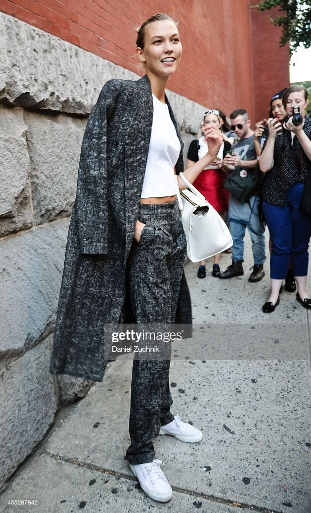 Karlie Kloss is seen outside the Marc Jacobs show on September 11 2014 in New York City