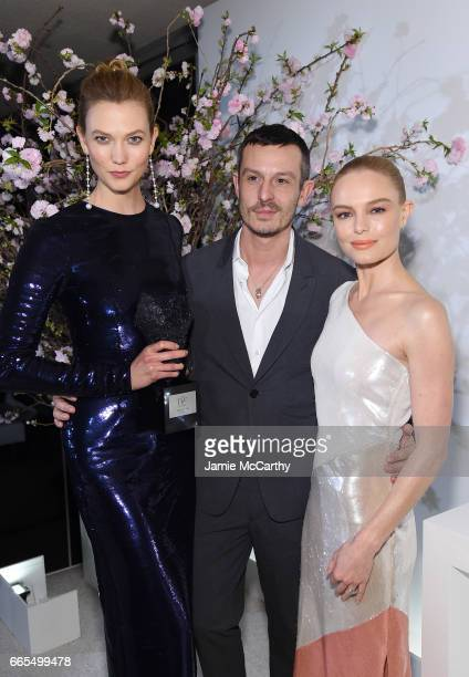 Karlie Kloss Jonathan Saunders and Kate Bosworth attend the 2017 DVF Awards at United Nations Headquarters on April 6 2017 in New York City