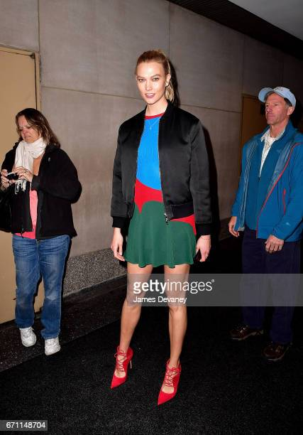 Karlie Kloss leaves NBC's 'Today' show at Rockefeller Center on April 21 2017 in New York City
