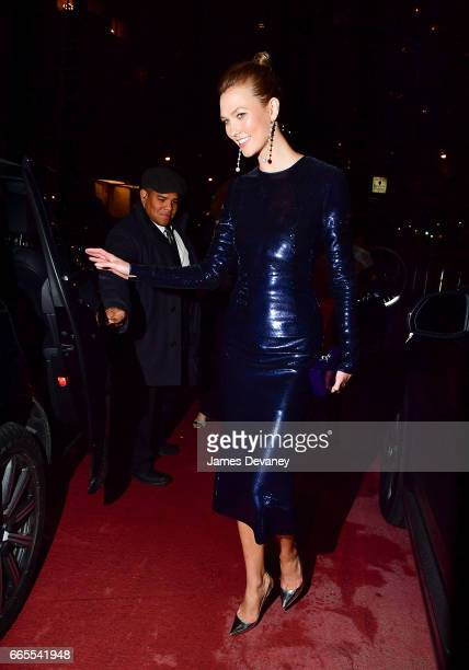 Karlie Kloss leaves the 2017 DVF Awards at United Nations Headquarters on April 6 2017 in New York City