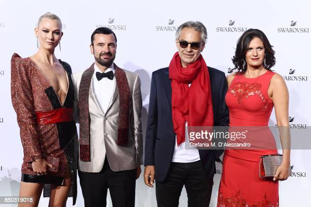 Karlie Kloss Robert Buchbauer Andrea Bocelli and Veronica Berti attend Swarovski Crystal Wonderland Party on September 20 2017 in Milan Italy
