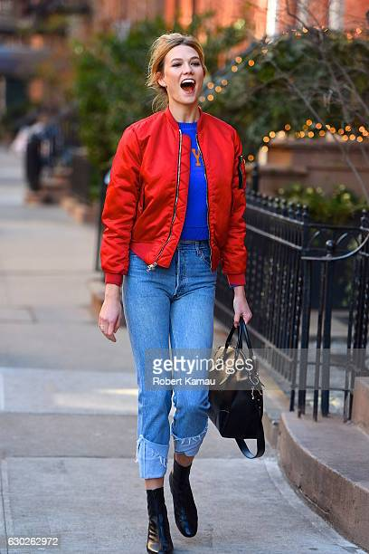 Karlie Kloss seen at a film set in Manhattan on December 19 2016 in New York City